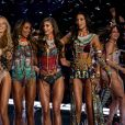 """""""Candice Swanepoel, Romee Strijd, Jasmine Tookes, Taylor Hill, Lais Ribeiro et Bella Hadid - Défilé Victoria's Secret à Shanghai, le 20 novembre 2017."""""""