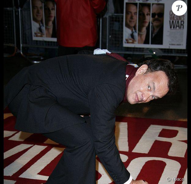 Tom Hanks à Londres pour l'avant-première de La guerre selon Charlie Wilson
