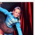 Pauline Ducruet, enfant, sur la piste du Festival International du Cirque de Monte-Carlo. Photo Instagram du 17 décembre 2017.