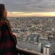 Pauline Ducruet admirant Paris, photo Instagram du 10 décembre 2017