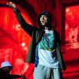 Eminem - Concert lors du festival Lollapalooza à Chicago, le 1er août 2014.