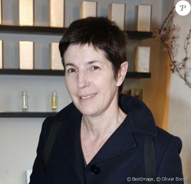 """Exclusif - Christine Angot à la soirée pour la collection de parfums """"Pour Toujours"""" de Martine Denisot à la boutique """"Liquide"""" à Paris, le 17 mars 2016. © Olivier Borde/Bestimage"""