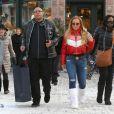 Exclusif - Mariah Carey fait du shopping à Aspen, le 25 décembre 2017.