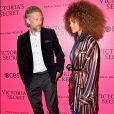 Vincent Cassel et sa compagne Tina Kunakey lors du photocall du Victoria's Secret Fashion 2016 au Grand Palais à Paris, France, le 30 novembre 2016. © BOV/Bestimage