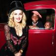 Madonna avec ses enfants en Italie pour son anniversaire, le 22 août 2017.