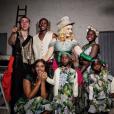 Madonna pose avec tous ses enfants pour son anniversaire organisé dans les Pouilles en Italie, le 19 août 2017.