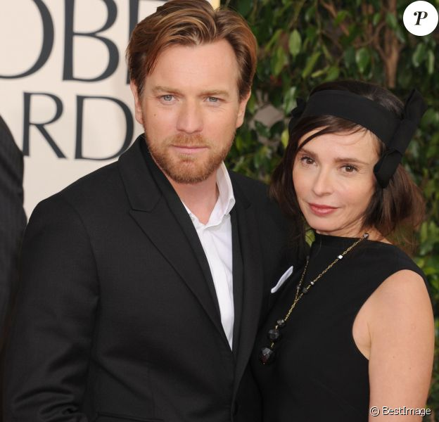 Ewan McGregor et sa femme Eve Mavrakis - Golden Globe Awards 2013
