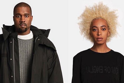 Kanye West, Solange Knowles : Mannequins pour Helmut Lang