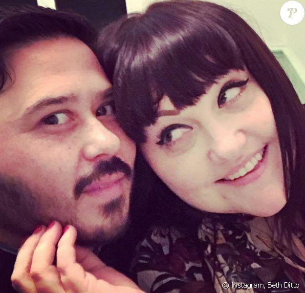 Beth Ditto et son amoureux Teddy Kwo, décembre 2017.