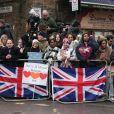 Le prince Harry et Meghan Markle arrivent à la station de radio Reprezent dans le quartier de Brixton à Londres le 9 janvier 2018.