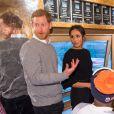 Le prince Harry et sa fiancée Meghan Markle en visite à la station de radio Reprezent à Londres le 9 janvier 2018.