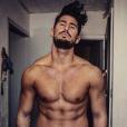 Rémi Notta très musclé le 8 février 2017 sur Instagram.