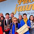 """""""Bernadette Chirac, Conseillère générale de la Corrèze, ex première dame, l'épouse de l'ancien président Jacques Chirac, et Christian Estrosi, député, maire de Nice et président du Conseil Régional de PACA, participent à l'opération des Pièces Jaunes à Nice le 6 février 2016. © Bruno Bebert/Bestimage"""""""