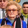 """""""Bernadette Chirac, Conseillère générale de la Corrèze, ex-Première dame et épouse de l'ancien président Jacques Chirac, participe à l'opération des Pièces Jaunes à Nice le 6 février 2016. © Bruno Bebert/Bestimage"""""""