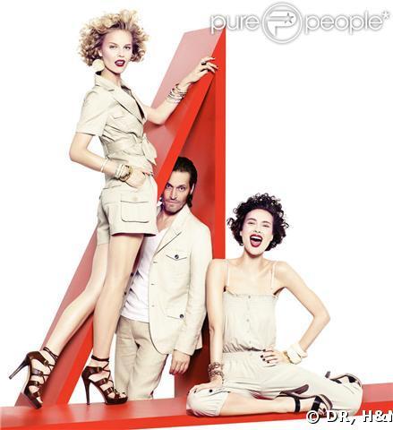 Nouvelle campagne de pub H&M avec Eva Herzigova, Shalom Harlow et Vincent Gallo