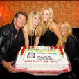 David Hasselhoff, son ex-femme Pamela Bach et leurs filles Ann et Hayley