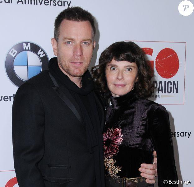 Ewan McGregor et sa femme Eve Mavrakis au 10ème anniversaire de GO Campaign à Hauser Wirth & Schimmel à Los Angeles, le 5 novembre 2016