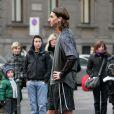 Zlatan Ibrahimovic, le footballeur suédois de l'Inter Milan, sur le tournage de la campagne Nike+ Men vs Women à Milan le 11 février 2009