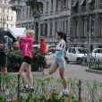 Il passe comme une gazelle, Zlatan Ibrahimovic, le footballeur suédois de l'Inter Milan, sur le tournage de la campagne Nike+ Men vs Women à Milan le 11 février 2009