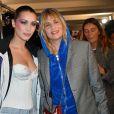 """Emmanuelle Seigner et Bella Hadid en backstage du défilé de mode """"Alexandre Vauthier"""", collection Haute-Couture printemps-été 2018, à Paris le 23 janvier 2018. © Veeren / CVS / Bestimage"""