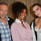 Fashion Week : Vincent Cassel et Tina Kunakey, amoureux devant Bella Hadid