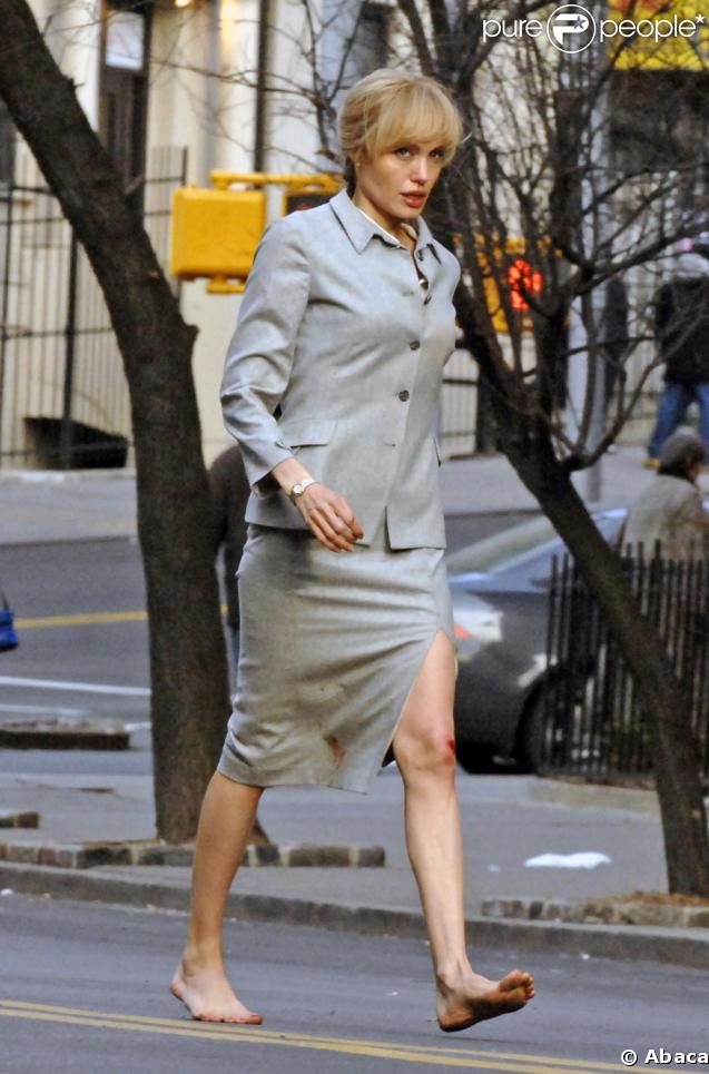 Angelina Jolie en plein tournage à New York vendredi 13 mars 2009