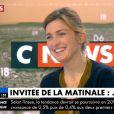 """Julie Gayet sur le plateau de """"La Matinale"""" sur CNews le 30 janvier 2018"""