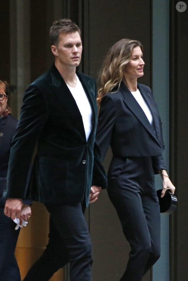 Exclusif - Gisele Bündchen et son mari Tom Brady vont dîner dans un restaurant à New York le 1er mai 2017.