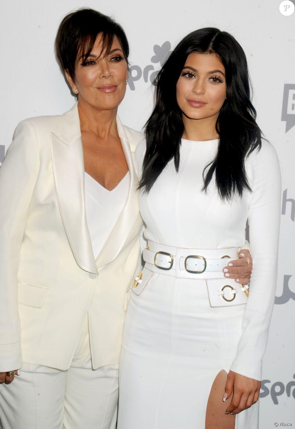 Kris et Kylie Jenner à la convention NBC Universal à New York le 14 mai 2015