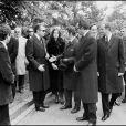 Alfonso de Bourbon, Gonzalo de Bourbon et Juan Carlos à l'enterrement de Jacques de Bourbon en mars 1975.