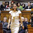 Rania de Jordanie au Parlement portugais