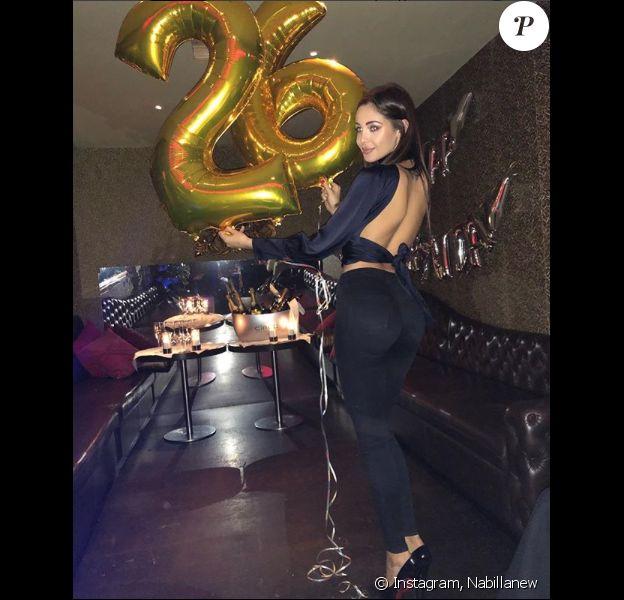 Nabilla fête ses 26 ans à Londres, le 4 février 2018.