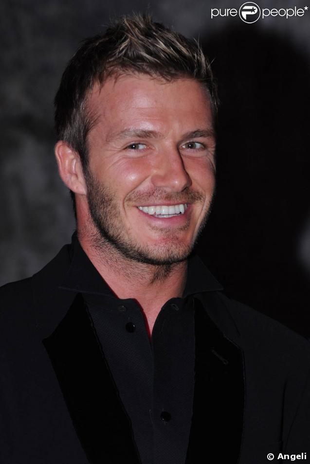 David Beckham, lors d'un dîner caritatif pour la lutte contre le cancer, à Milan, le 16 mars 2009 !