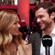 """Caroline Receveur et son compagnon Hugo Philip lors de la première de """"Cinquantes Nuances plus claires"""" à Paris. Le 6 février 2018."""