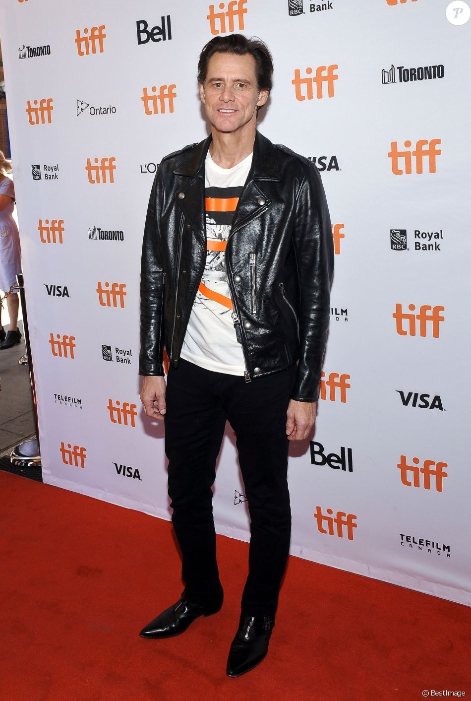 Jim Carrey lors de la Première de ''Jim & Andy: The Great Beyond'' au festival international du film de Toronto (TIFF) le 11 septembre 2017.