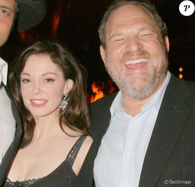 Robert Rodriguez, Rose McGowan et Harvey Weinstein à la soirée Chopard Trophy lors du Festival de Cannes en mai 2007