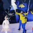 Cérémonie d'ouverture des Jeux Olympiques d'hiver à Pyeongchang en Corée du sud le 9 février 2018.
