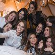 Ophélie Meunier fête un événement avec ses amies proches, Instagram, 13 janvier 2018