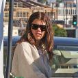 Exclusif - Sofia Richie fait le plein d'essence à Los Angeles le 9 février 2018