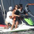 Exclusif - Scott Disick et sa compagne Sofia Richie en vacances sur un mega yacht à Punta Mita au Mexique le 17 janvier 2018.