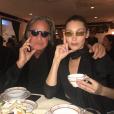Mohamed Hadid et sa fille Bella Hadid. Février 2018.