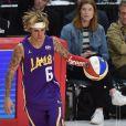 Justin Bieberlors du match NBA All-Star Celebrity Game 2018 à Los Angeles le 16 février 2018