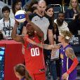 Jamie Foxx et Justin Bieberlors du match NBA All-Star Celebrity Game 2018 à Los Angeles le 16 février 2018