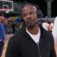 Jamie Foxx lors du match NBA All-Star Celebrity Game 2018 à Los Angeles le 16 février 2018. Interrogé par ESPN lors de l'événement sportif, l'acteur n'a pas apprécié qu'on l'interroge sur sa relation avec Katie Holmes. Il est parti au milieu de l'interview.