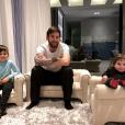 Lionel Messi pose avec ses fils Thiago et Mateo, photo Instagram du 9 février 2018