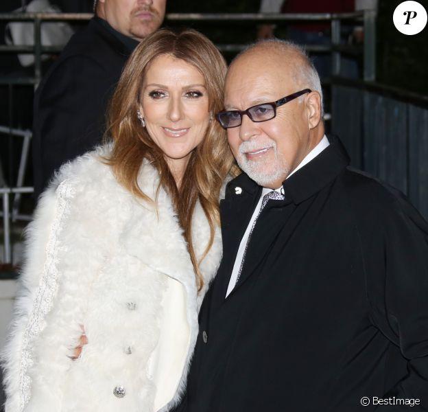 """Céline Dion et son mari René Angélil arrivent à l'enregistrement de l'émission """"Vivement dimanche"""" au studio Gabriel à Paris le 13 novembre 2013."""