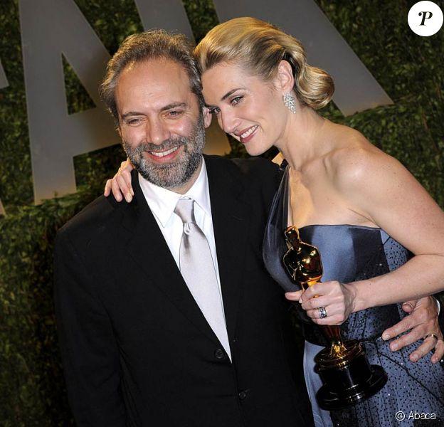 Sam Mendes et Kate Winslet, lors de la cérémonie des Oscars, le 22 février 2009 !