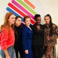 Laetitia Dosch, Garance Marillier, Iris Bry, Eye Haidara et Camélia Jordana sur le plateau de l'émission Quotidien. Février 2018.