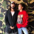 Bob Sinclar avec sa fille Paloma. Instagram, février 2018.