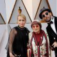 Rosalie Varda, Agnès Varda, JRsur le tapis rouge des Oscars au Dolby Theatre, Los Angeles, le 4 mars 2018.